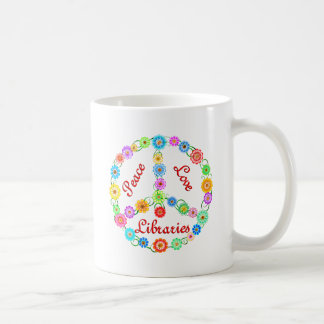 Peace Love Libraries Coffee Mug