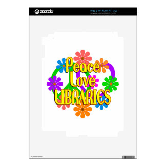 Peace Love Libraries Decal For iPad 2