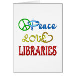 PEACE LOVE LIBRARIES GREETING CARDS