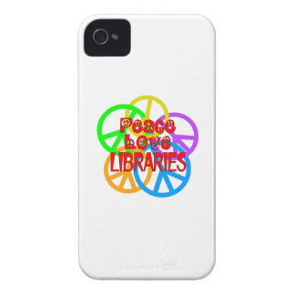 Peace Love Libraries iPhone 4 Case-Mate Case