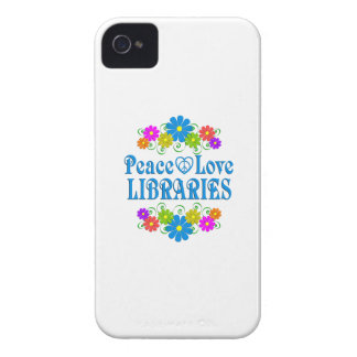 Peace Love Libraries iPhone 4 Cover