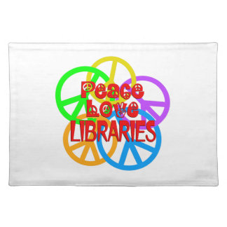 Peace Love Libraries Placemat