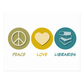 Peace Love Libraries Post Cards