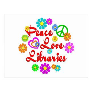 Peace Love Libraries Postcard
