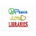 PEACE LOVE LIBRARIES POSTCARDS