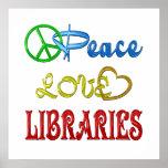PEACE LOVE LIBRARIES PRINT