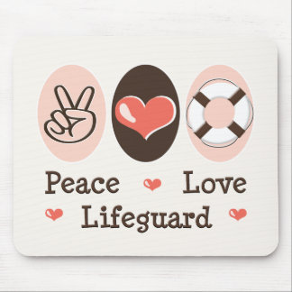 Peace Love Lifeguard Mousepad