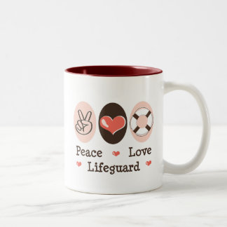 Peace Love Lifeguard Mug