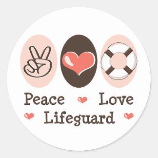 Peace Love Lifeguard Stickers