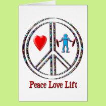 Peace Love Lift Card