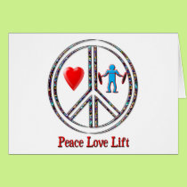 Peace Love Lift Card