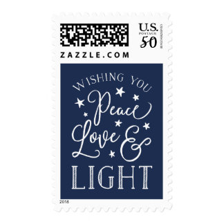Peace, Love & Light | Hanukkah Postage