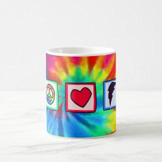 Peace, Love, Lightning Bolt Mug