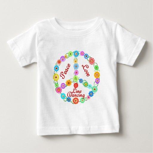 Peace Love Line Dancing Tshirt