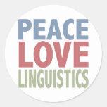 Peace Love Linguistics Sticker