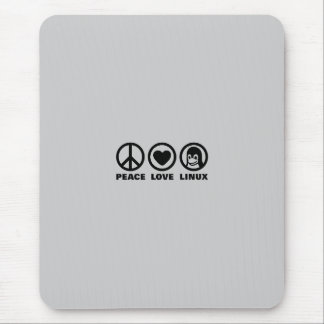 Peace Love Linux Mouse Pad