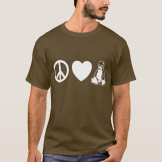 Peace, Love, Linux T-Shirt