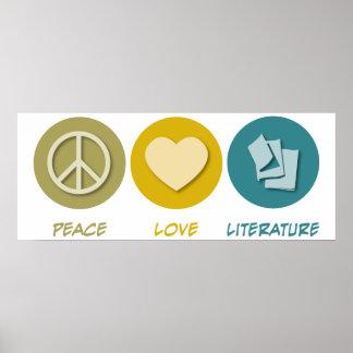 Peace Love Literature Poster