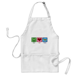 Peace Love Llamas Adult Apron