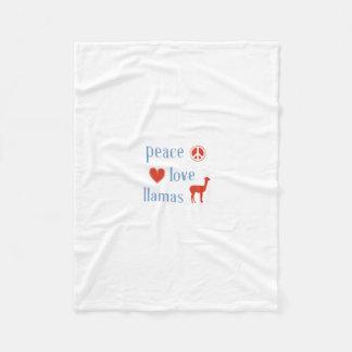 Peace Love Llamas Fleece Blanket