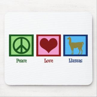 Peace Love Llamas Mouse Pad