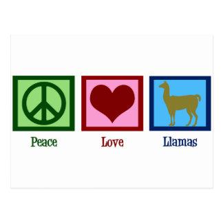 Peace Love Llamas Postcard