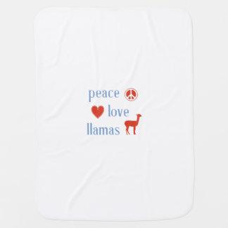 Peace Love Llamas Stroller Blanket