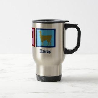 Peace Love Llamas Travel Mug