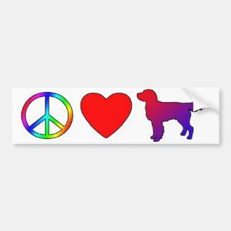 Peace Love Llewellin Setters Bumper Sticker
