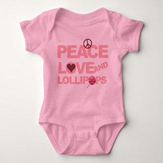 Peace love lollipops baby girl creeper