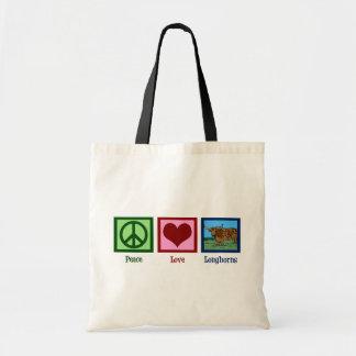 Peace Love Longhorns Tote Bag