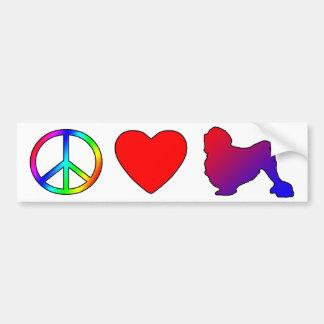 Peace Love Lowchens Car Bumper Sticker