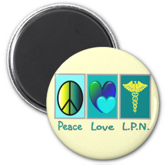 Peace Love LPN Gifts Magnet