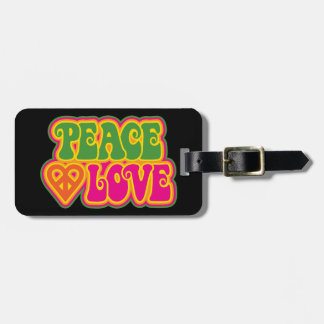 Peace Love Tags For Luggage