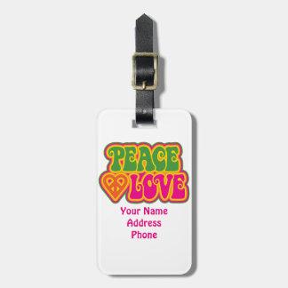 Peace Love Bag Tag