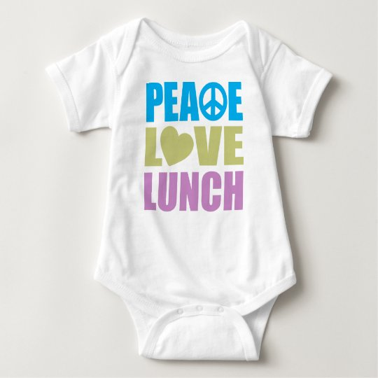 Peace Love Lunch Baby Bodysuit
