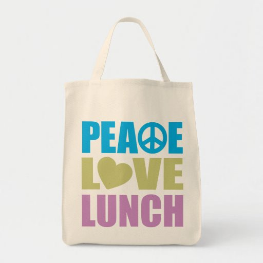 Peace Love Lunch Bag