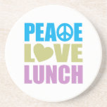 Peace Love Lunch Beverage Coasters
