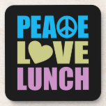 Peace Love Lunch Coasters