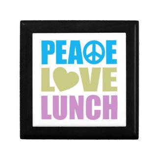 Peace Love Lunch Trinket Box
