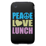 Peace Love Lunch iPhone 3 Tough Covers