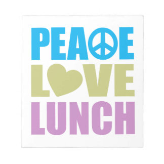 Peace Love Lunch Memo Notepad