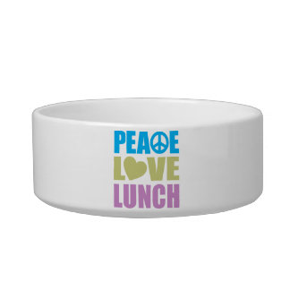 Peace Love Lunch Pet Food Bowl