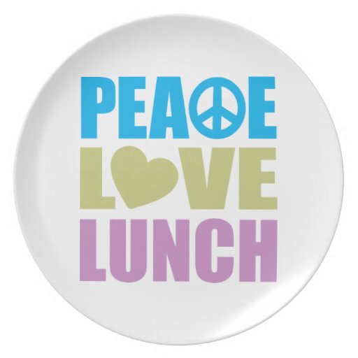 Peace Love Lunch Plate