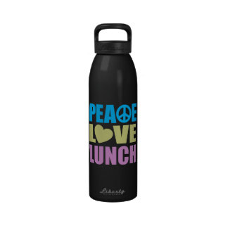 Peace Love Lunch Reusable Water Bottles