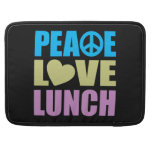 Peace Love Lunch Sleeve For MacBook Pro