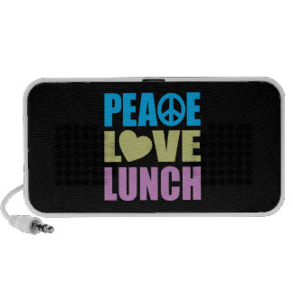 Peace Love Lunch iPod Speakers