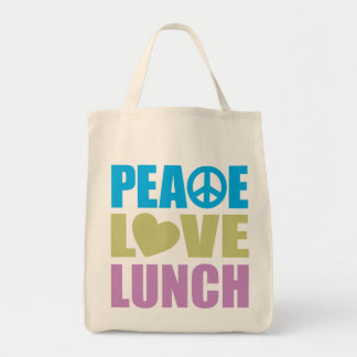 Peace Love Lunch Tote Bag