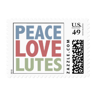 Peace Love Lutes Postage Stamp