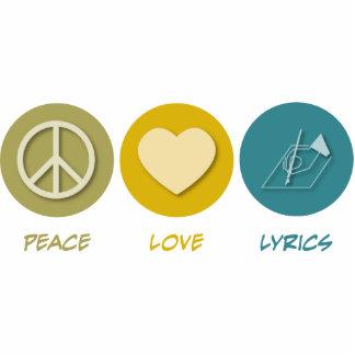 Peace Love Lyrics Cut Outs